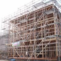 株式会社BRAST(ブラスト)/ 足場工事、低層物件、本足場、2012年のイメージ